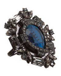Lanvin | Silver Crystal Barbara Ring | Lyst