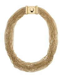 Michael Kors - Metallic Turn Lock Necklace 20 - Lyst