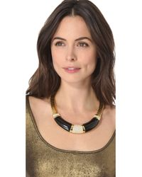 Rachel Zoe - Metallic Collar Necklace - Lyst