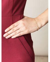 Sia Taylor - Metallic Random Dots Yellow Gold Bracelet - Lyst