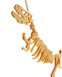 Marie Meili - Metallic Tatty Devine Small Dinosaur Necklace - Lyst