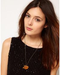Tatty Devine - Orange Fox Necklace - For Women - Lyst