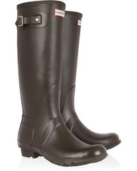 HUNTER - Brown Original Tall Wellington Boots - Lyst