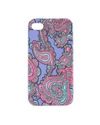 J.Crew - Blue Printed Case For Iphone 4 - Lyst