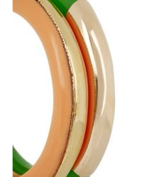 Marni | Metallic Set Of Two Brass and Resin Bangles | Lyst