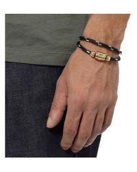 Miansai   Black Wovencord and Metal Wrap Bracelet for Men   Lyst