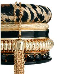 River Island | Metallic Leopard Bangle Pack | Lyst