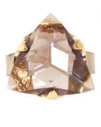 Ted Baker - Metallic Stone Ring - Lyst