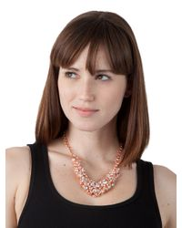 BaubleBar - Metallic Ice Cluster Necklace - Lyst