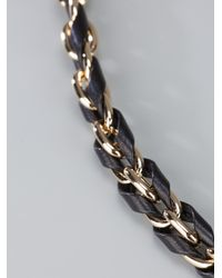 Fendi | Metallic Leather Woven Necklace | Lyst