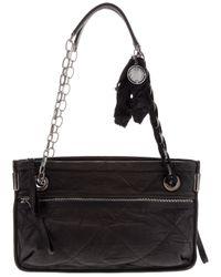 Lanvin | Black Amalia Shoulder Bag | Lyst
