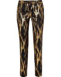 Michael Kors | Samantha Metallic Ikat Jacquard Pants | Lyst