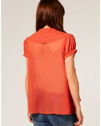 ASOS Collection | Orange Asos Maternity Triple Collar Waterfall Blouse | Lyst