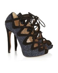 Nicholas Kirkwood | Blue Glitterfinished Leather Pumps | Lyst
