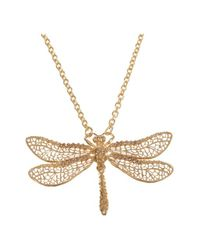 Alexander McQueen | Metallic Gold Skull Dragonfly Pendant | Lyst