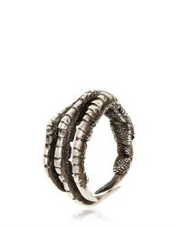 Ann Demeulemeester | Metallic Pigeon Claw Silver Ring for Men | Lyst