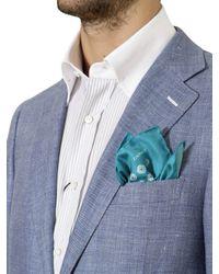 Canali Blue Open Weave Linen Blend Jacket for men