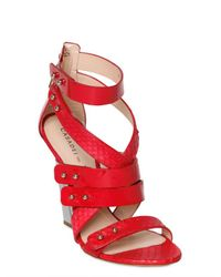 Casadei Red Patent Strappy Wedges