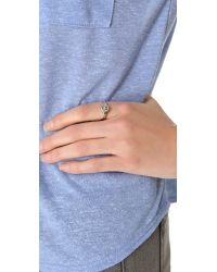 Cast Of Vices - Metallic Happy Face Ring - Lyst