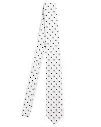 Dolce & Gabbana   White 5cm Polkadot Silk Twill Tie for Men   Lyst