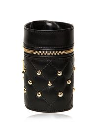 DSquared² - Black Quilted Nappa Leather Studded Bracelet - Lyst