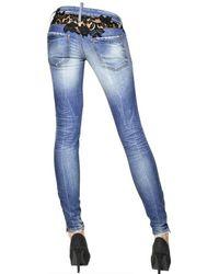 DSquared² | Blue Super Slim Lace Cotton Denim Jeans | Lyst