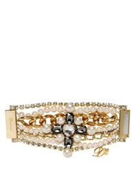 DSquared² - White Swarovski Multi Chain Bracelet - Lyst