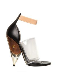 Givenchy | Brown 120mm Vinyl and Calfskin Sandals | Lyst