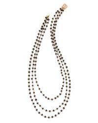 Heather Hawkins | Black Trilayer Short Necklace | Lyst
