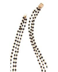 Heather Hawkins | Black Trilayer Short Necklace | Lyst