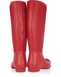 HUNTER Red Fringe Wellington Boots