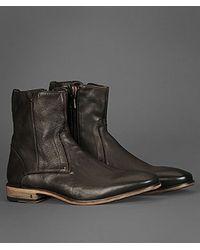 John Varvatos | Gray Fleetwood Zip Boot for Men | Lyst