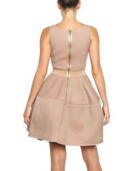 Lanvin - Pink Techno Net Baby Doll Dress - Lyst