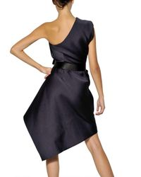 Lanvin | Purple Techno Duchesse Dress | Lyst