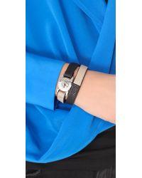 Marc By Marc Jacobs - Black Katie Double Wrap Leather Bracelet - Lyst