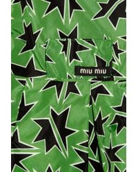 Miu Miu - Green Star-print Raincoat - Lyst