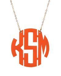 BaubleBar | Orange Acrylic Block Monogram | Lyst