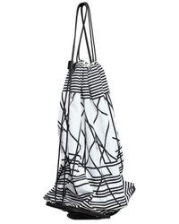 Neil Barrett White Abstract Printed Nylon Foldable Backpack for men