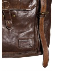 Officine Creative Brown Vintage Tucson Leather Messenger Bag for men