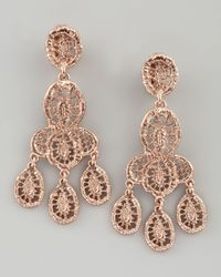 Oscar de la Renta | Pink Looped Lace Cluster Earrings  | Lyst