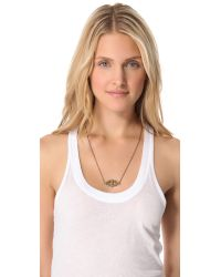 Pamela Love | Metallic Reflection Pendant Necklace - Bronze/turquoise | Lyst