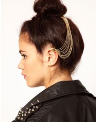 River Island - Metallic Ear Cuff and Hair Slide - Lyst
