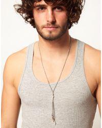 ASOS - Metallic Asos Spike Rosary Necklace for Men - Lyst