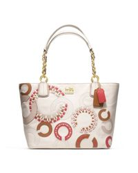COACH | Natural Madison Whipstitch Tote | Lyst