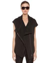 Helmut Lang | Black Soft Sweatshirt Hood Vest  | Lyst