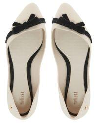 Melissa | Beige Trippy Bow Ballet Flats | Lyst