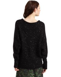 Rebecca Minkoff | Black Lindsey Sequin Oversized Sweater | Lyst