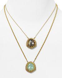 Alexis | Metallic Bittar Siyabona Gold Peruvian Chalcedony Labradorite Two Pendant Necklace 16 | Lyst
