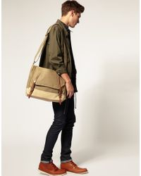 Ally Capellino - Natural Danny Waxed Canvas Satchel for Men - Lyst