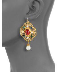 Ben-Amun | Metallic Byzantine Clover Shaped Earrings | Lyst